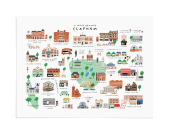 A Walk Around Clapham - Giclée Art Print