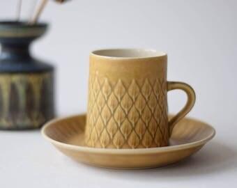 Quistgaard - RELIEF - coffee cup & saucer - Kronjyden - Danish mid century tableware