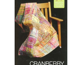 """Pattern """"Cranberry Chutney Quilt Pattern"""" by Madison Cottage Design (CR107) Paper Pattern"""