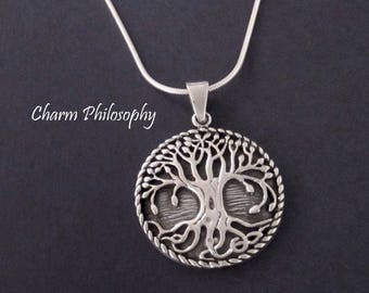 Tree of Life Necklace - 925 Sterling Silver Tree Necklace - Silver Tree of Life Jewelry - Nature Lovers