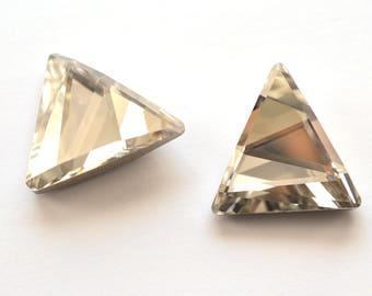 Silver Shade Swarovski 21.5mm Delta Fancy Stone Crystal 1 Piece 4717