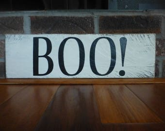 Hand painted rustic Halloween sign