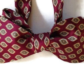 Silk Bow Tie for Men - Panache -One-of-a-Kind, Self-tie - Free Shipping