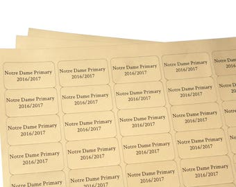 Personalised Labels GOLD - small self adhesive labels 38mm x 21mm