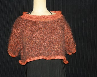 short sweater with short sleeves