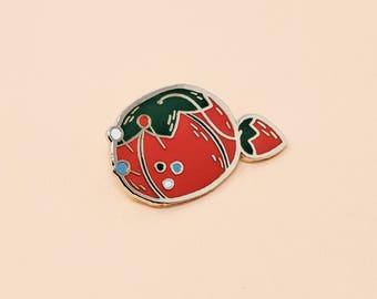 Tomato Pin Cushion Pin // Hard Enamel - Enamel Pin - Pin - Lapel Pin - Flair - Brooch - Collar Pin - By Justine Gilbuena