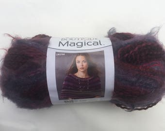 Red Heart Boutique Magical Yarn, Open Sesame Yarn, Purple, Gray and Red Yarn