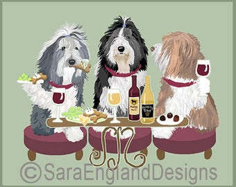 Dogs WINEing - Bearded Collie