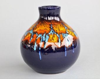 Awesome Bertoncello vase vintage ceramics from Italy mid century modern Roberto Rigon sixties