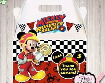 Mickey and the Roadster Racers party boxes, 10 Mickey and the Racers party boxes