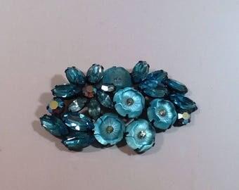 Light Blue Vintage Brooch