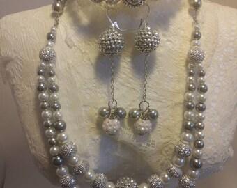 Dazzle Me Silver Jewelry Set