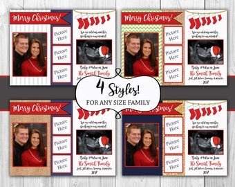 Christmas Card Pregnancy Announcement with Ultrasound