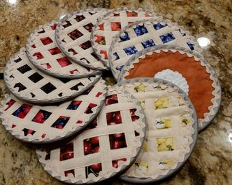 Fruit Pies Quilted Hot Pad Hotpads Pot Holders Trivet