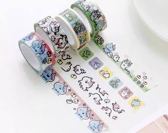Colorful Cat Washi Tape WT3345C