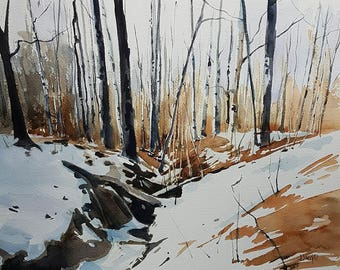 Landscape Painting, Winter Landscape Painting, Winter Painting, Landscape Art, Landscape Wall Art