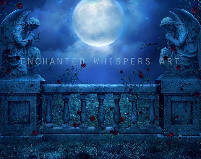 Gothic Angels premade background for Photoshop