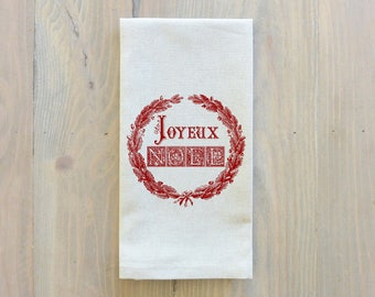 Joyeux Noel Napkin_Christmas, table setting, tableware, place setting, housewarming gift, party, event