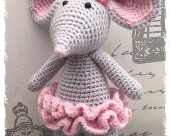 Amigurumi Crochet Ballerina Mouse