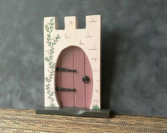 Wooden Castle Fairy Door