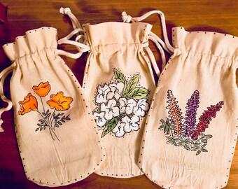 Floral Wine Bags