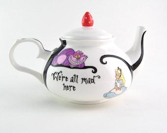 Alice in Wonderland Bone China Teapot