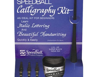Speedball® Calligraphy Kit - 3 Nibs, Holder, and Ink