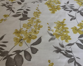 Linen Tablecloth Floral Print Fabric Rectangle