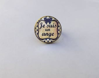 "ring COLLECTION cabochon ""I'm an Angel"""