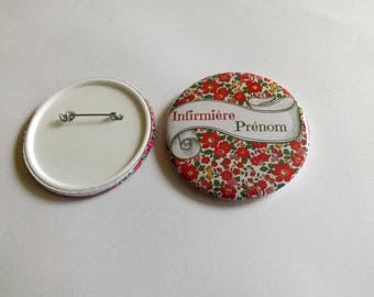 nurse badge liberty customize 5.8 cm in diameter