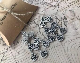 Beautiful Mandala drop earrings