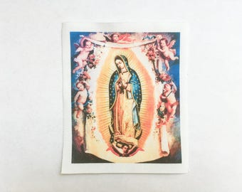 Vigin of Guadalupe Patch -  Virgin Mary Sew On Patch - Virgen de Guadalupe