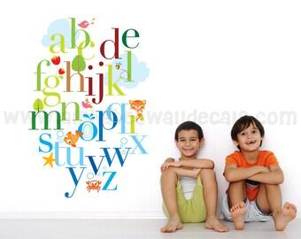 Alphabet Wall Decal - Nursery Wall Decal - Playroom Wall Decal - Rainbow Wall Decal - Play Room Wall Decal - Wall Stickers - 01-0012