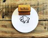 Vintage Buffalo Stamp / Wooden Buffalo Stamp / The Classroom Printer / Old Wood Stamp / Vintage Wood Stamp / Wood Handled Stamp / Farmhouse