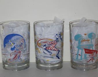 Remember the Magic, Walt Disney World 25th Anniversary Glasses, 3 piece set