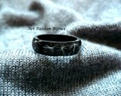 Real dandelion in eco friendly resin ring, size 8