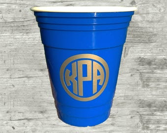Kids personalized cup, kids insulated cup, outdoor cup, blue drinking cup,  16 oz cup, BPA free monogrammed cup