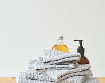 Light Grey Linen Waffle Towel