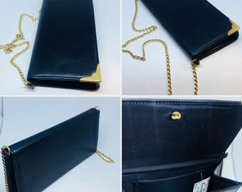 Vintage Handbag, Navy Blue Bag, Wvsning Bag