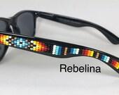 VENTE lunettes de soleil de perles Turquoise feu
