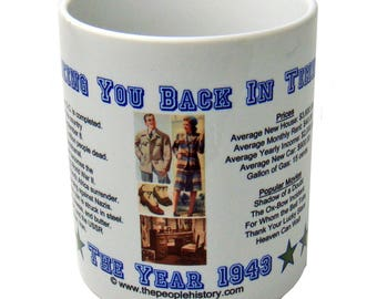 1943 Year In History Coffee Mug - 75th Birthday