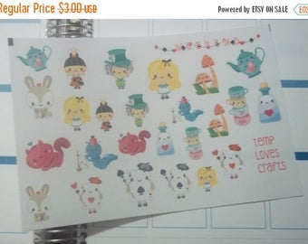 Weekend Sale Alice In Wonderland Clip art Set for ec life planner, happy planner, filofax, kikki k, or any planner or scrapbooking