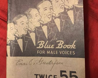 1926 The Blue Book For Male Voices