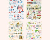 Sunny Cities Notebooks - A5