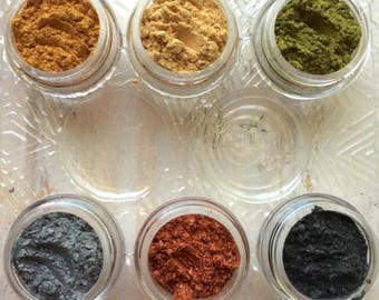 Essential Metallic Pigments No Tray Mica Powders for Polymer Clay and Mixed Media Shimmer loose jars