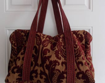 Weekend/ Carpet Bag/ Duffle bag/ Damask
