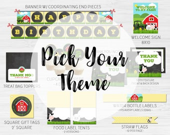 Pick Your Theme Party Pack • Printable • Digital Files