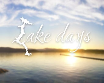 Vinyl Decal - Coeur d'Alene Lake, Idaho