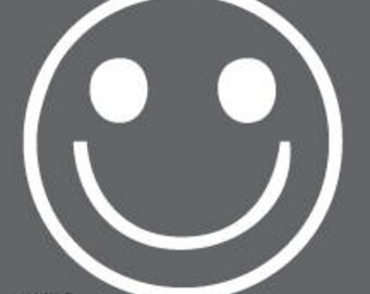 S.O. Decal. SMILEY FACE. Car decals. Window vinyl. Vinyl stickers