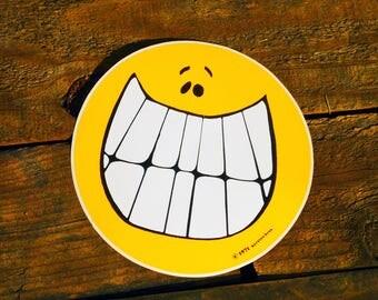 Vintage 1970 Smiley Face LG 5inch Sticker